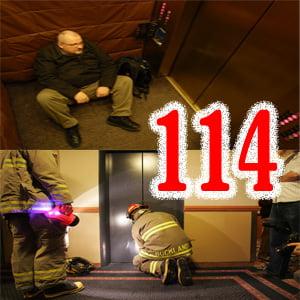 Kẹt thang máy gọi 114