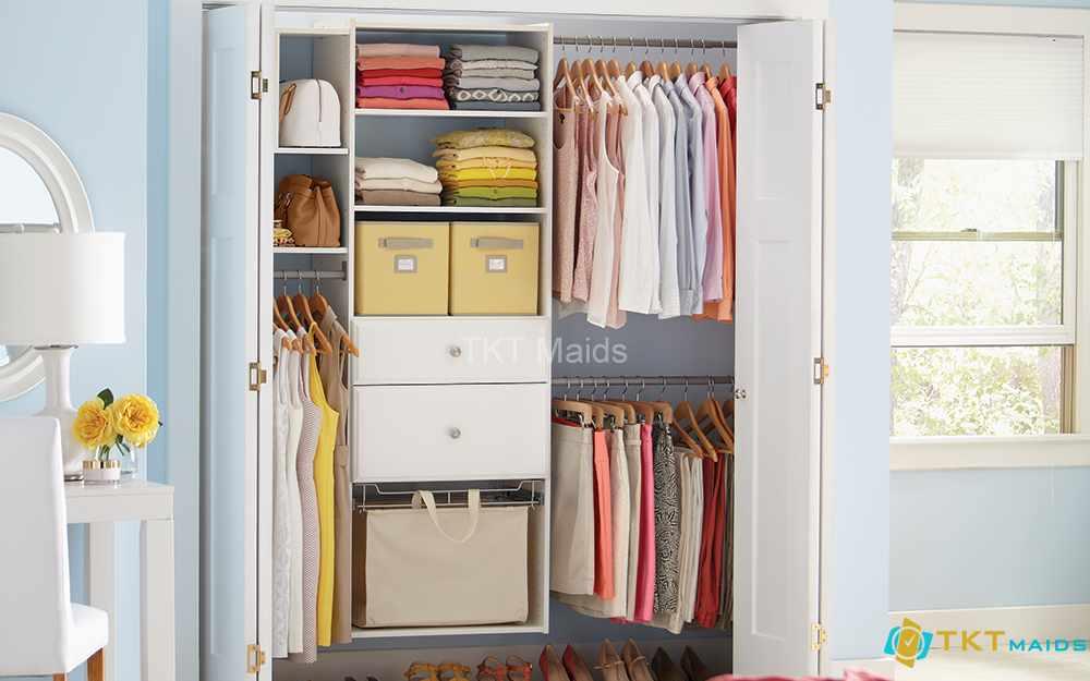 Hình ảnh minh họa: cách sắp xếp tủ quần áo