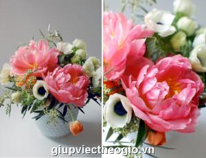 mẫu hoa đẹp cắm tết từ hoa hồng