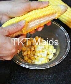 Hình ảnh: tách hạt bắp