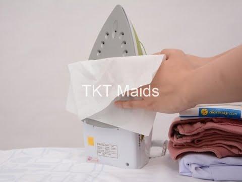 hướng dẫn bàn ủi hơi nước bước 1