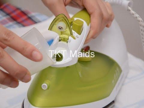 hướng dẫn bàn ủi hơi nước bước 2