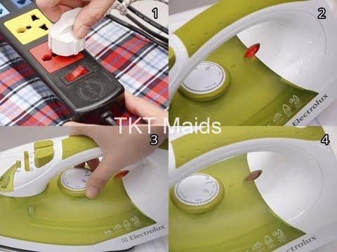 hướng dẫn sử dụng bàn ủi hơi nước bước 3