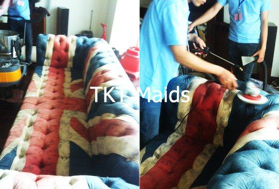 dịch vụ giặt ghế sofa - TKT Maids