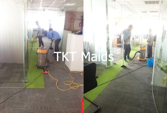 dịch vụ giặt thảm văn phòng công ty TKT Maids