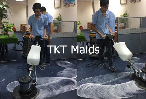 dịch vụ giặt thảm văn phòng TKT Maids