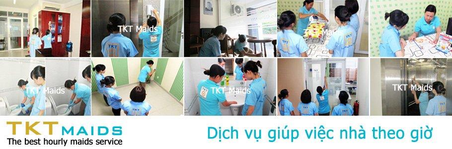dịch vụ giúp việc nhà theo giờ TKT Maids