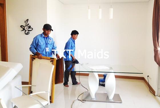 dịch vụ vệ sinh nhà ở - chà rửa sàn - TKT Maids