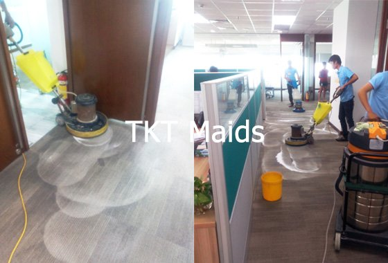 dịch vụ vệ sinh thảm văn phòng TKT Maids