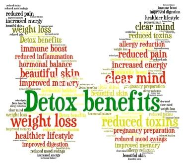 Lợi ích của Detox theo các nhà sản xuất