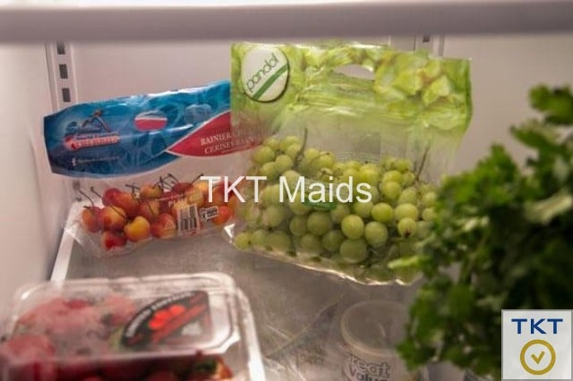 sử dụng túi đục lỗ bảo quản Nho trong tủ lạnh