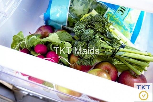 bảo quản rau có màu xanh đậm
