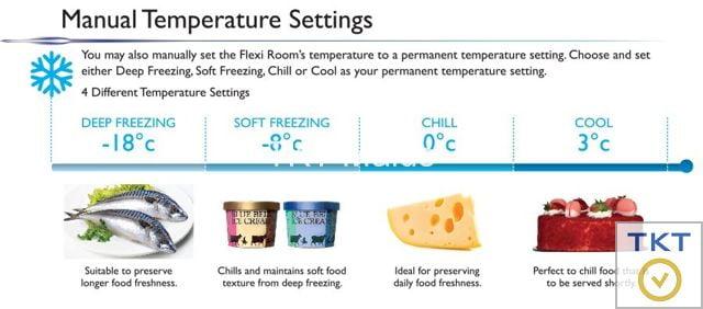 chế độ nhiệt của tủ lạnh cấp đông mềm