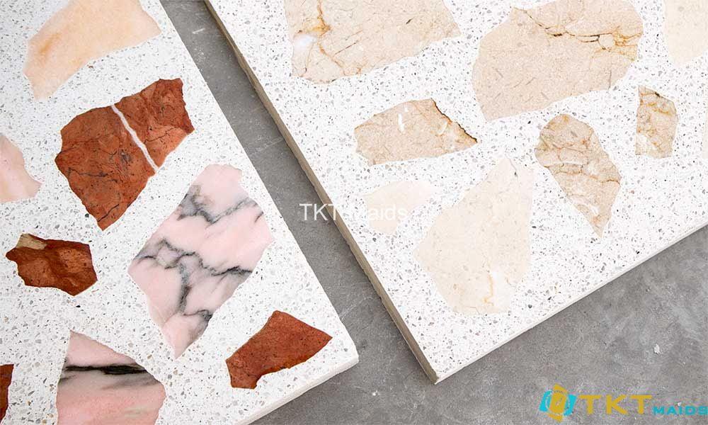 Sàn đá Terrazzo trọn đá Marble