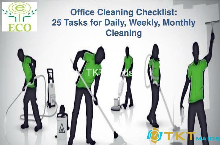 Checklist vệ sinh văn phòng 25 nhiệm vụ cơ bản