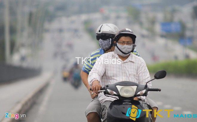 tình trạng mù khô khiến người dân khó chịu
