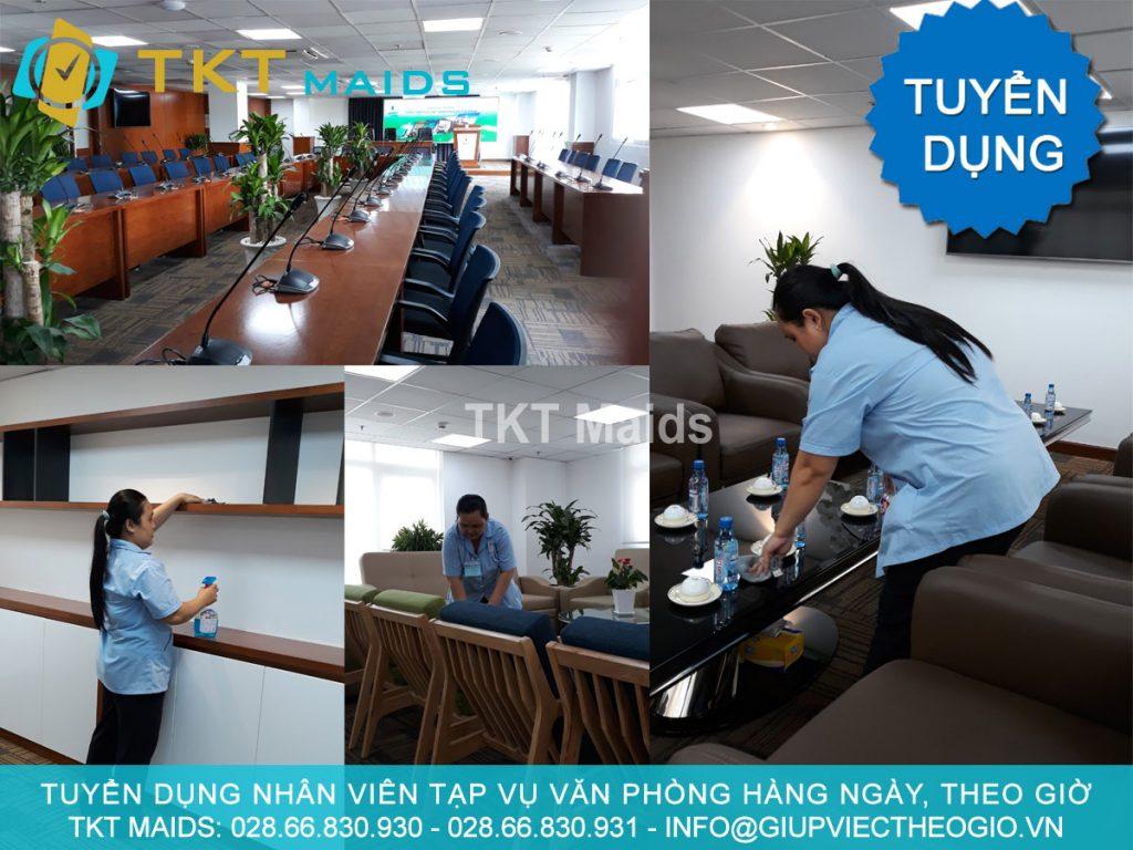 tuyển dụng nhân viên tạp vụ văn phòng công ty tại TPHCM