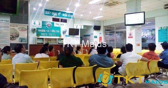 Quầy đăng kí tại Khu Khám và điều trị theo yêu cầu, Bệnh viện Nhân dân 115