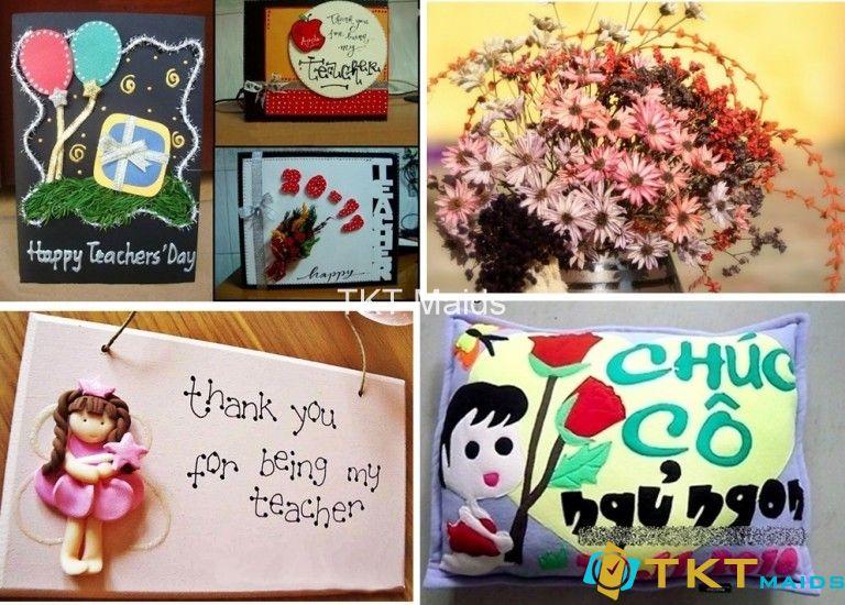 Những món quà handmade được làm từ chính tình yêu thương đối với thầy cô giáo