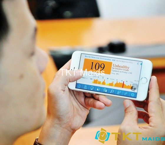 Cách đo bụi mịn với ứng dụng trên website