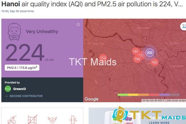chỉ số chất lượng không khí tại Việt Nam