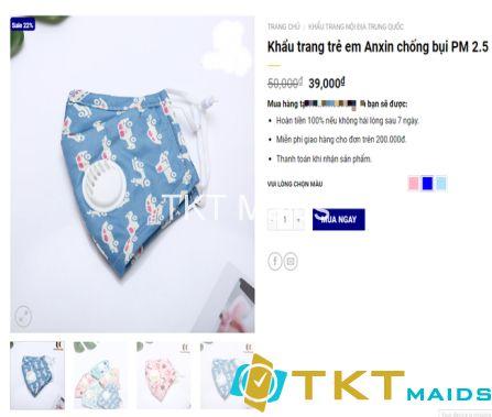 Khẩu trang trẻ em Anxin