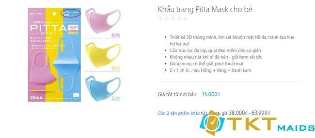 Khẩu trang chống bụi Pitta Mask