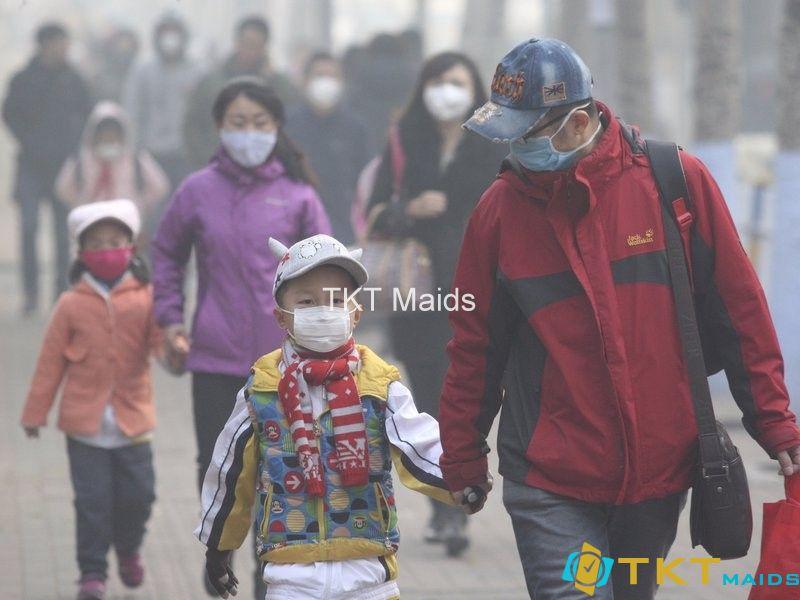 Người dân sống trong bụi mịn ô nhiễm tại Việt Nam