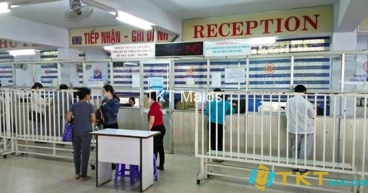 Quầy đăng kí khám tại Trung tâm Y khoa Medic Hòa Hảo