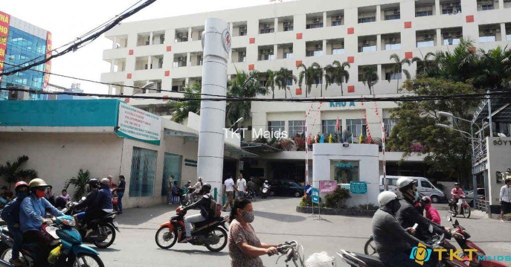 Cổng vào Trung tâm Y khoa số 1 - Nhà A5, Bệnh viện Đại học Y Hà Nội