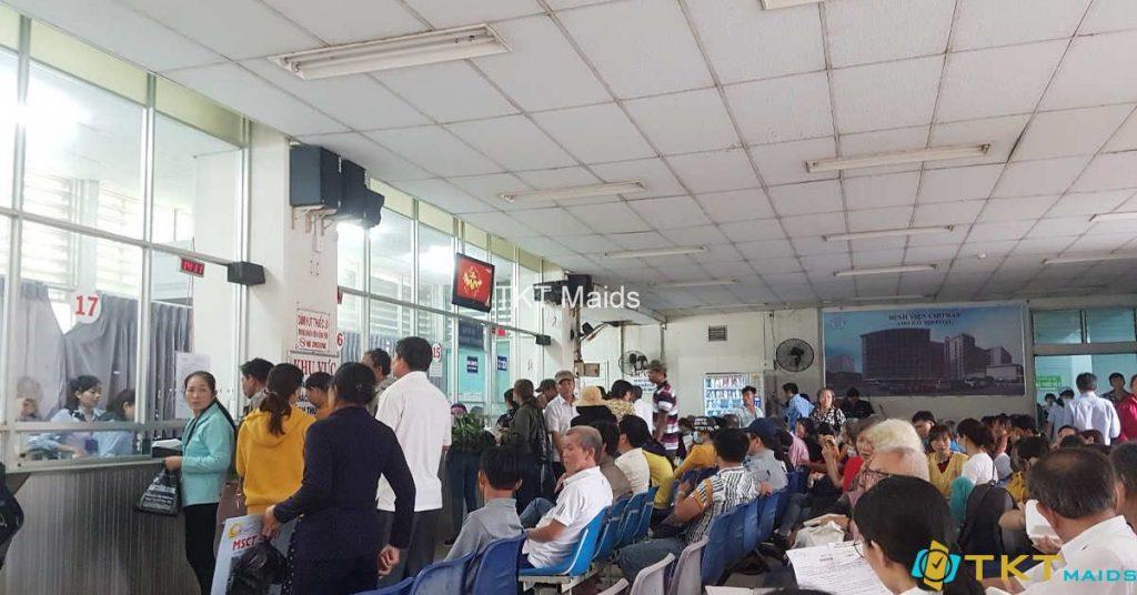 Khu đăng ký khám Bệnh viện Chợ Rẫy