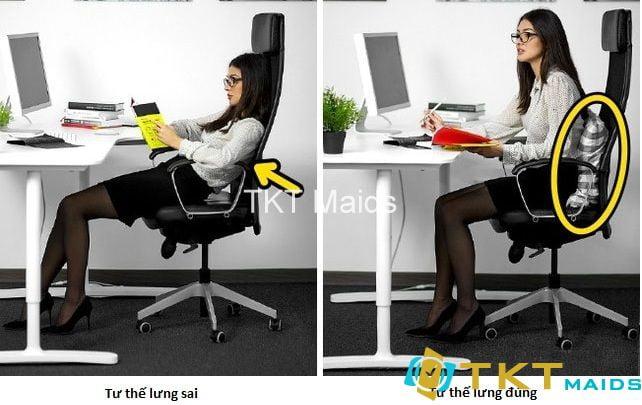 Ngồi đúng tư thế để không bị thoát vị đĩa đệm thắt lưng