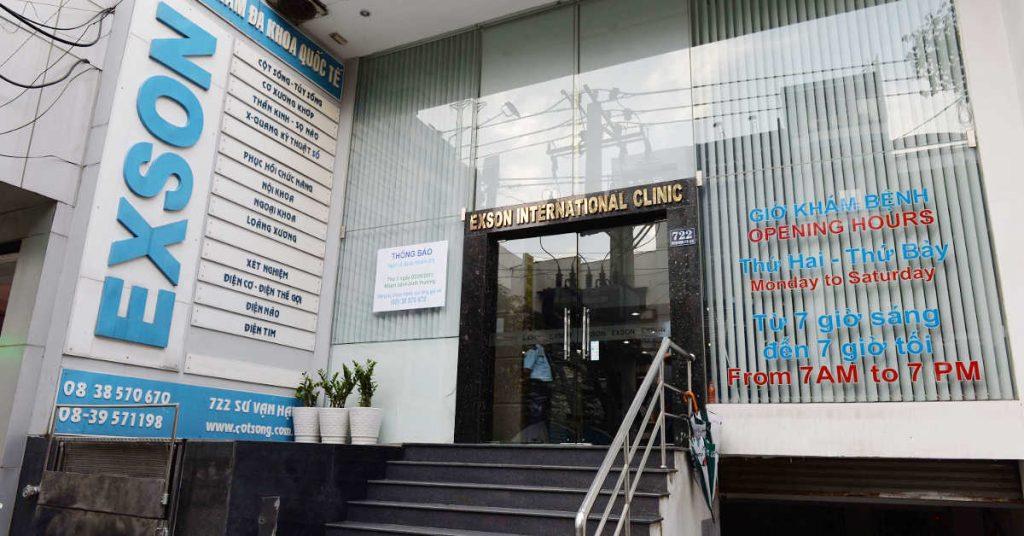 Phòng khám Exson có thế mạnh về bệnh xương khớp, cột sống