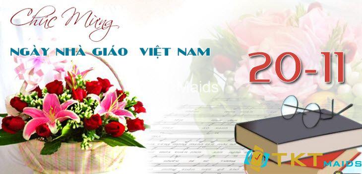 hoa chúc mừng ngày nhà giáo Việt Nam