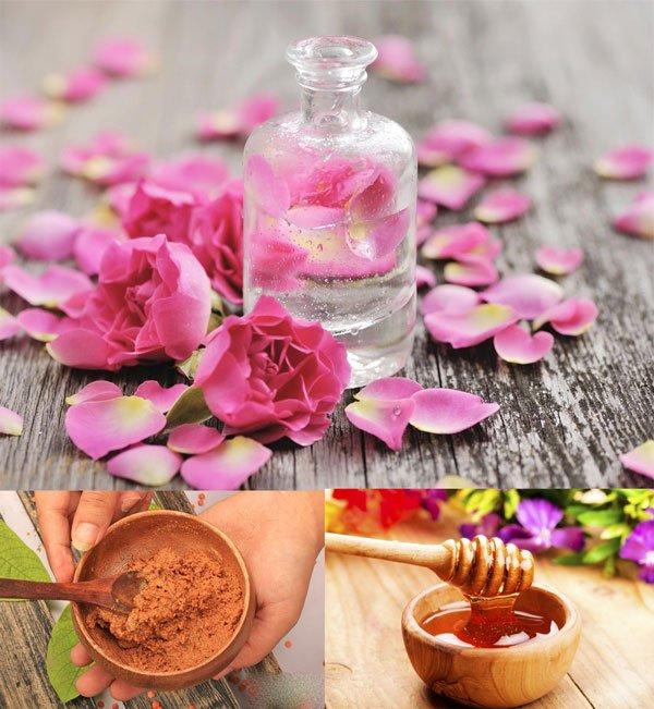 Mặt nạ giảm nếp nhăn và chất nhờn từ hoa hồng