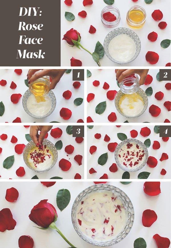 Tự làm mặt nạ dưỡng da từ hoa hồng