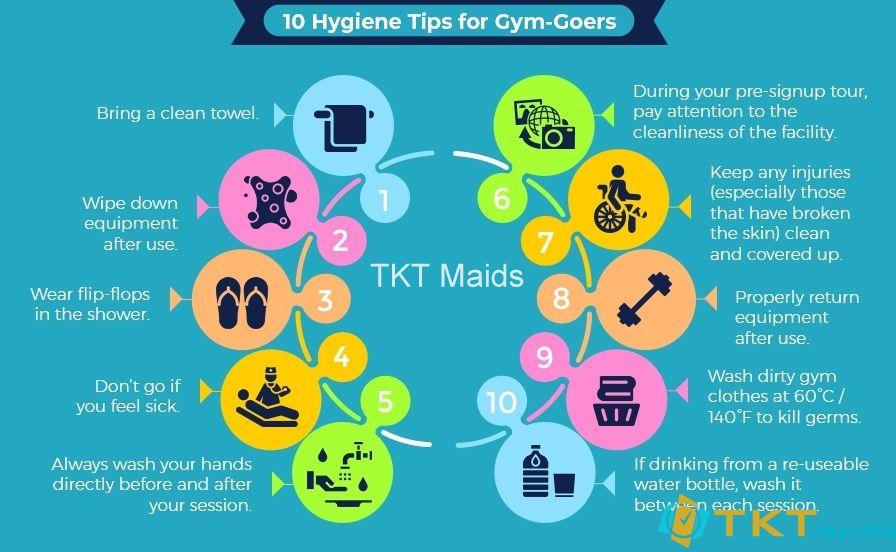 10 mẹo cho người tập Gym giữ vệ sinh chung