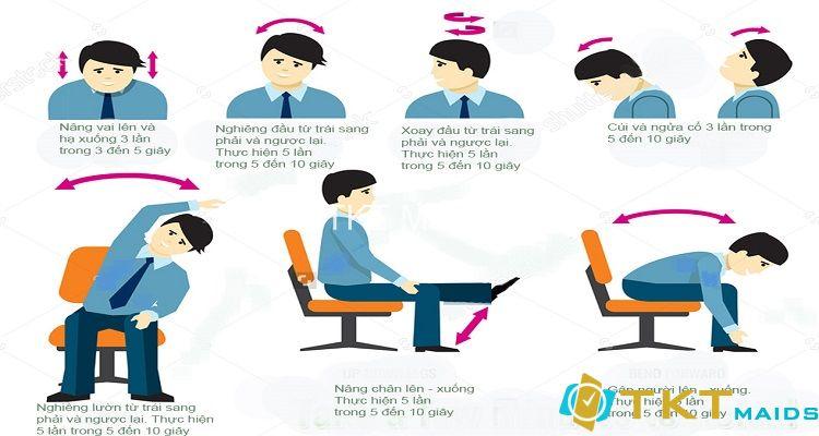 Các bài tập đơn giản phòng đau cổ vai gáy của dân văn phòng