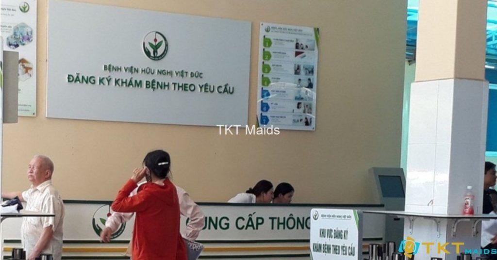 Khu vực đăng ký khám theo yêu cầu tại nhà C4, Bệnh viện Việt Đức