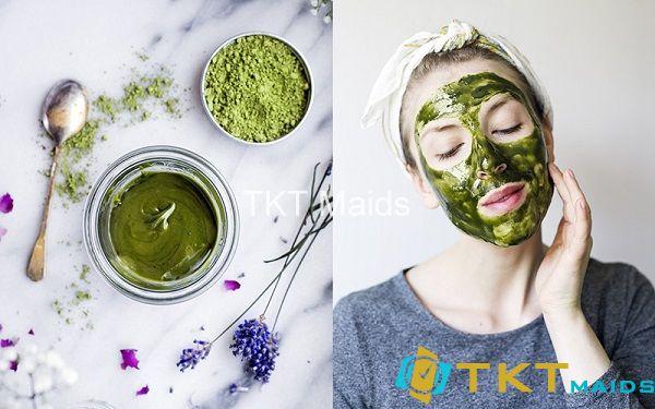 Mặt nạ trà xanh phù hợp với làn da nhạy cảm