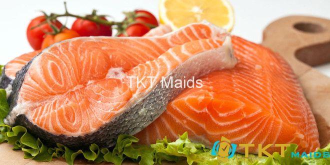 Cá hồi chứa nhiều Axit béo Omega 3