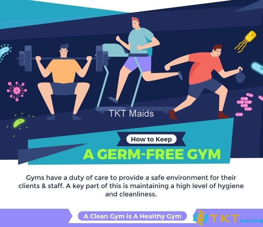 cách giữ phòng tập gym sạch vi trùng