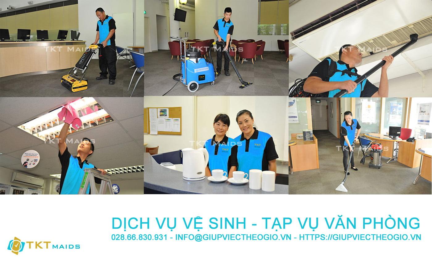 công ty dịch vụ vệ sinh tạp vụ văn phòng TKT Maid