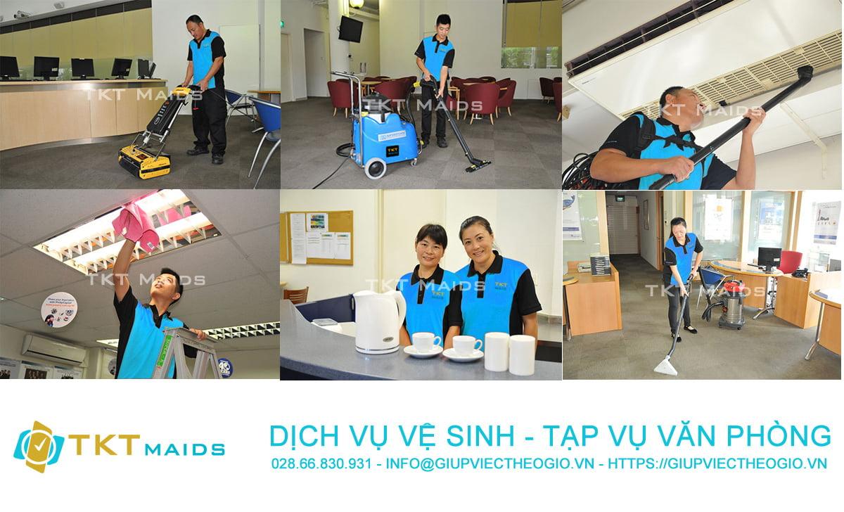 dịch vụ vệ sinh tạp vụ văn phòng TKT Maids