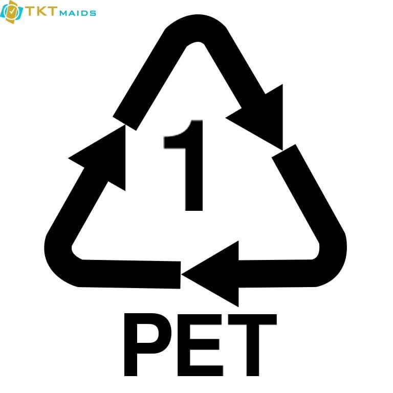 Hình ảnh: ký hiệu nhựa loại 1 PET
