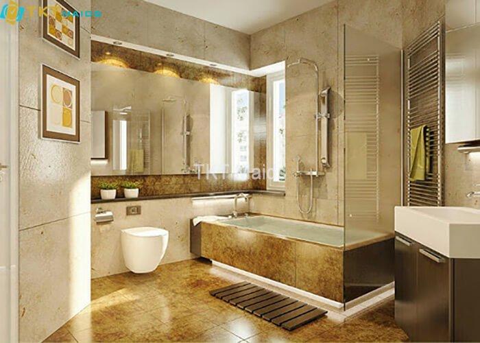 Hình ảnh: Nhà vệ sinh được vệ sinh sạch sẽ, ngăn nắp