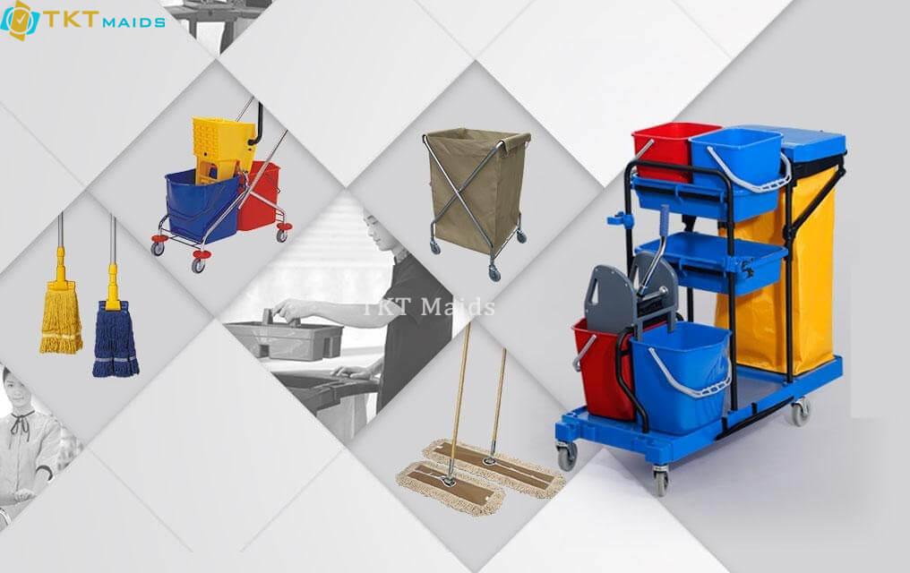 Hình ảnh: Các thiết bị, dụng cụ vệ sinh văn phòng quận 1