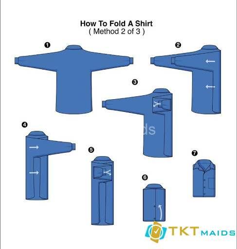 Hình ảnh: Cách gấp áo sơ mi