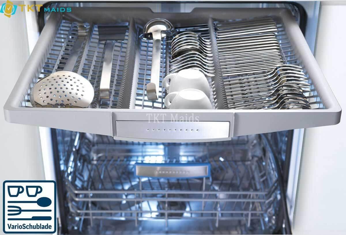 Hình ảnh minh họa: cách sắp xếp dao muỗng nĩa trong máy rửa bát