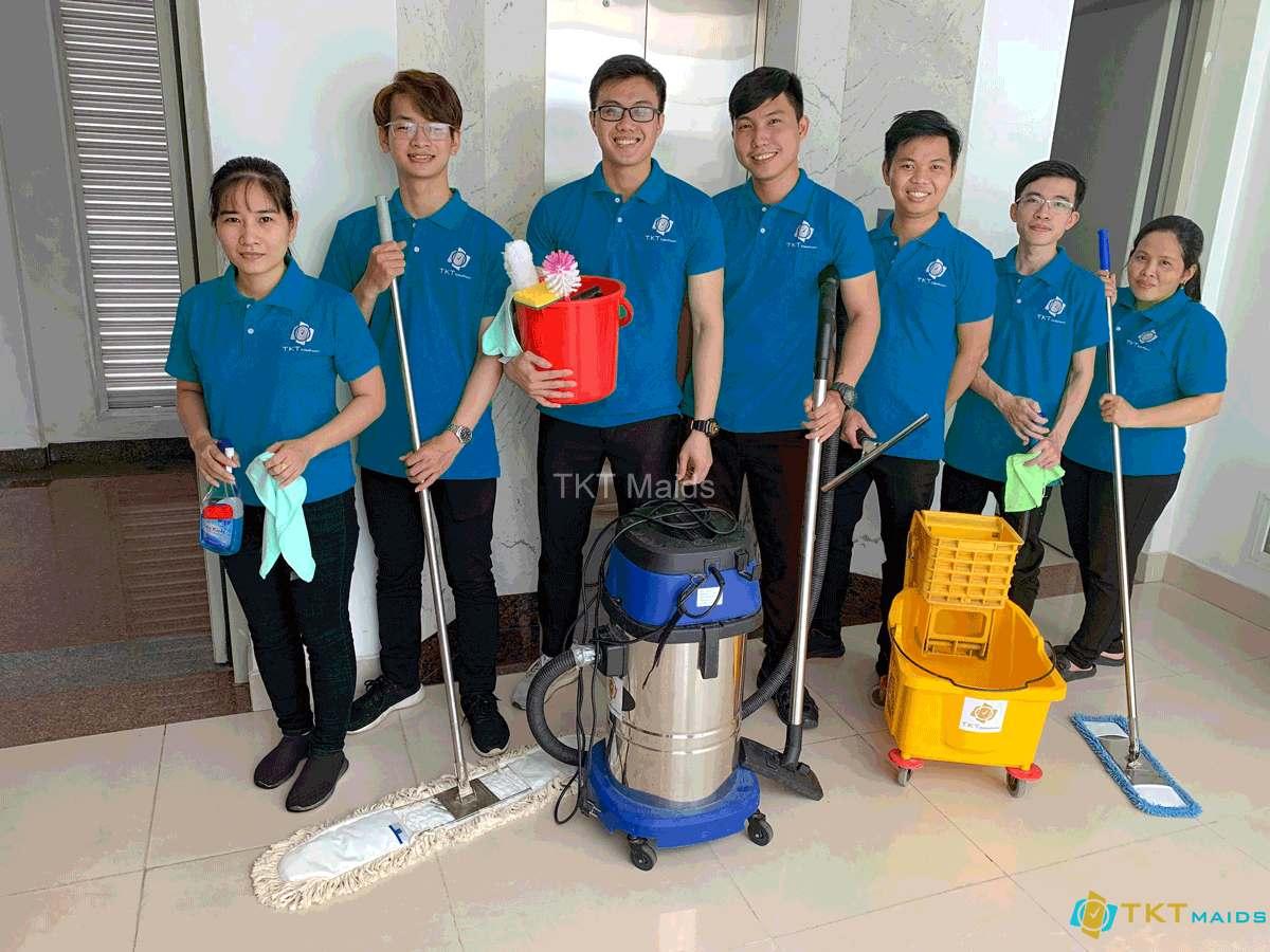 Hình ảnh: Đội ngũ nhân viên TKT Maids